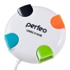 Разветвитель USB HUB 4 порта Perfeo PF_4284 белый