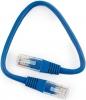Шнур коммутационный с RJ45, 0.25м (синий) Cablexpert PP10-0.25M/B