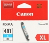 Картридж CLI-481XL С (Canon Pixma TS6140/TS8140TS/TS9140/TR7540/TR8540) синий, (о) 2044C001
