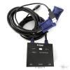 Переключатель сист. блоков D-Link KVM-221/C1A на 2 компьютера USB, звук (кабели в комплекте) металл