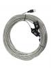 Удлинитель кабеля USB 2.0 [Аm - Аf] 20м активный(с усилителем) [Vcom]  [VUS7049-20M]