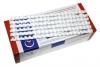 Пружины для переплёта пластиковые (диаметр 10мм, 100шт) белые  ( 65 л )