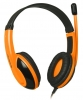 Гарнитура Defender Warhead G-120 наушники+микрофон, черный + оранжевый, кабель 2 м  [64099]