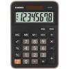 Калькулятор Casio MX-8B  {настольн.,8-разрядн., черный/коричневый}