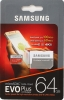 Карта памяти Micro SecureDigital 64Gb Samsung EVO PLUS Class 10 (MB-MC64HA/RU) SDадаптер