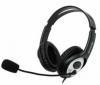 Гарнитура Microsoft LifeChat LX-3000 наушники+микрофон, черный/серебристый, 1,8м, USB (JUG-00015)