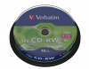 Диск Verbatim CD-RW 700Mb 80min  8-12х,  Cake Box, 10 шт., DL+, (43480)